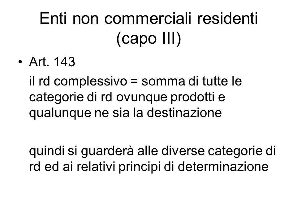 Enti non commerciali residenti (capo III)