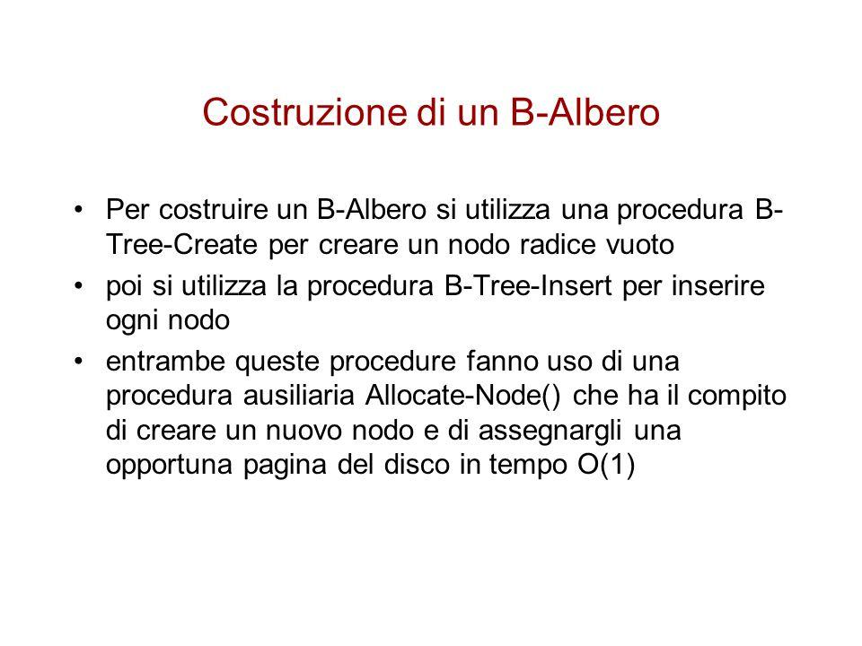 Costruzione di un B-Albero