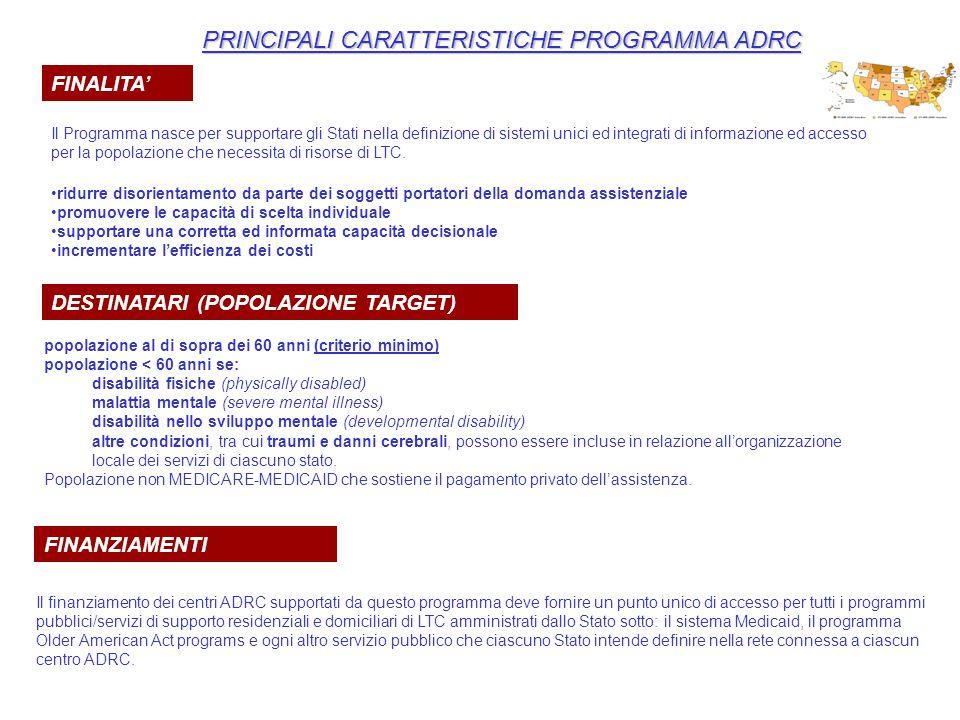 PRINCIPALI CARATTERISTICHE PROGRAMMA ADRC
