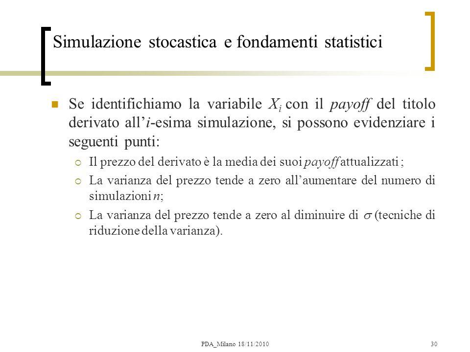 Simulazione stocastica e fondamenti statistici
