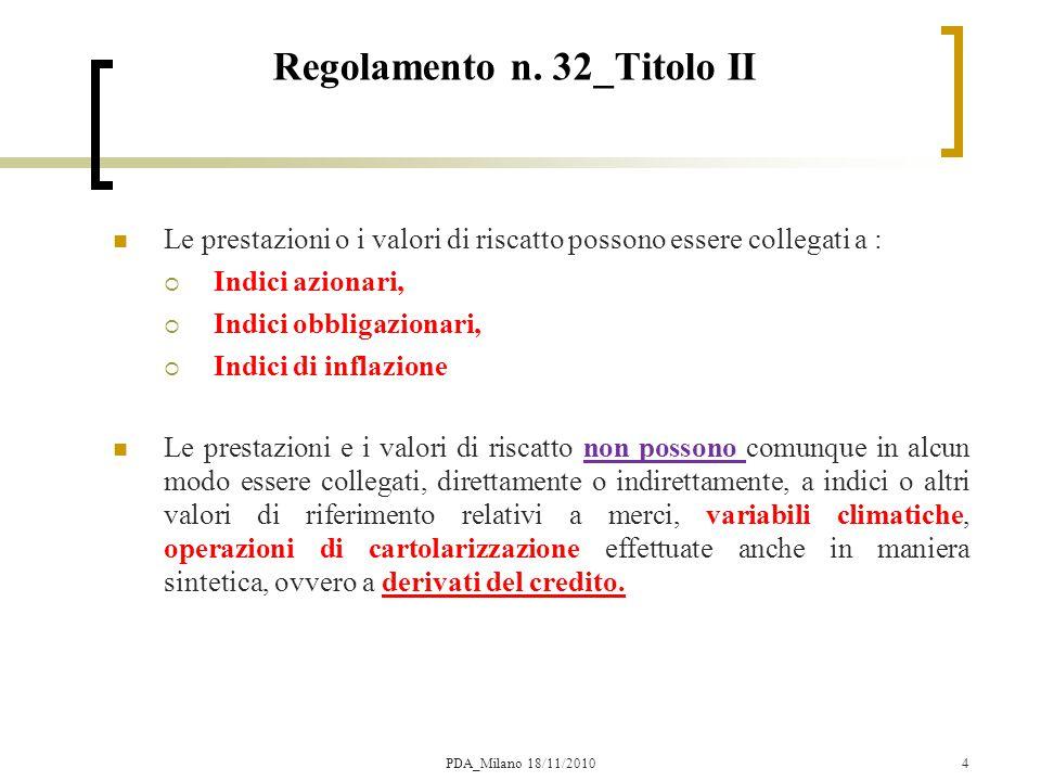 Regolamento n. 32_Titolo II