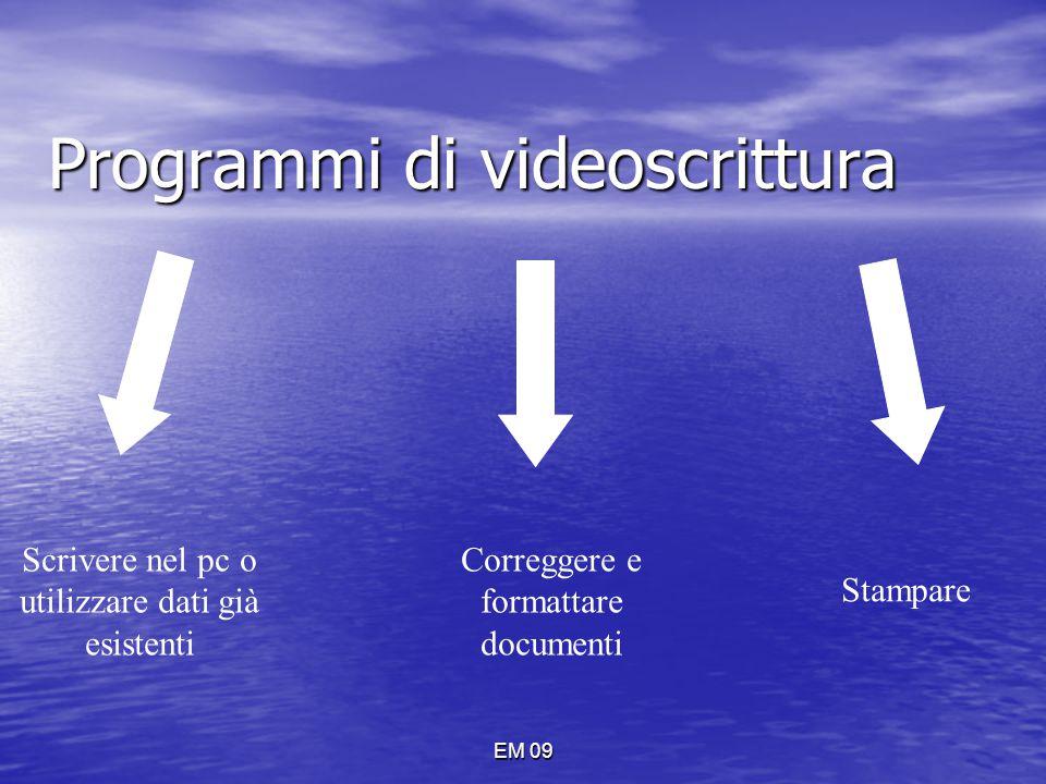 Programmi di videoscrittura