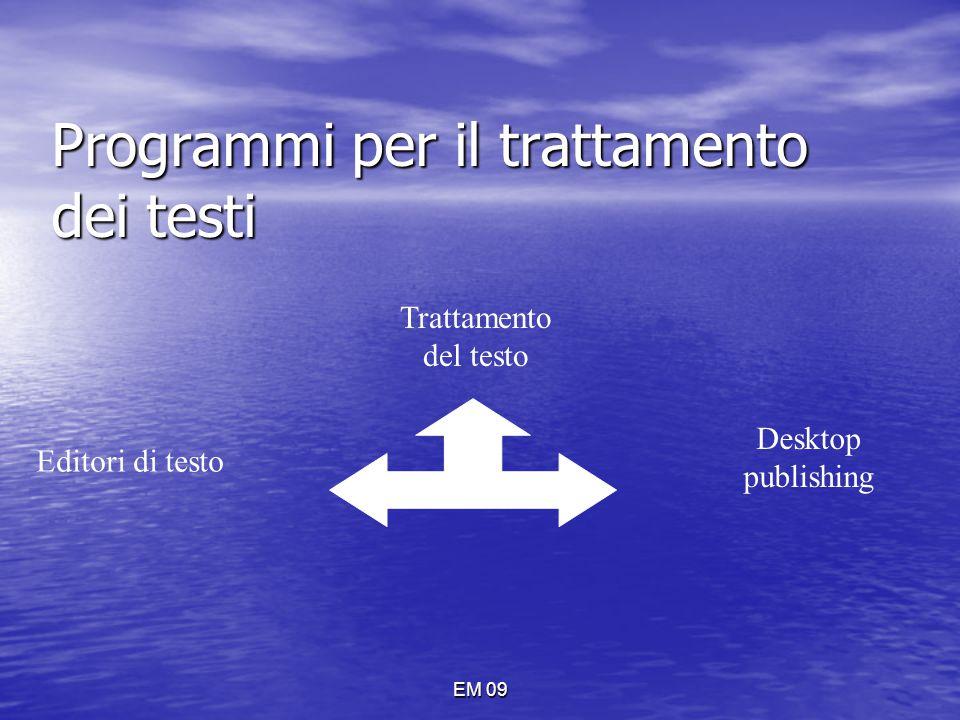 Programmi per il trattamento dei testi