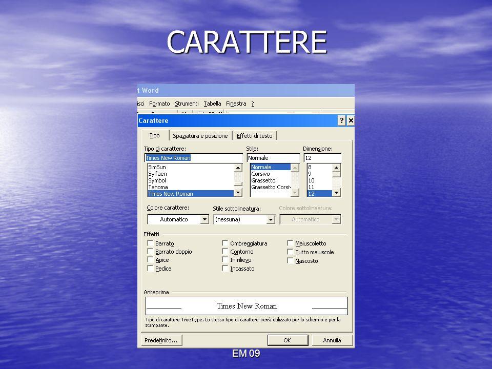 CARATTERE EM 09