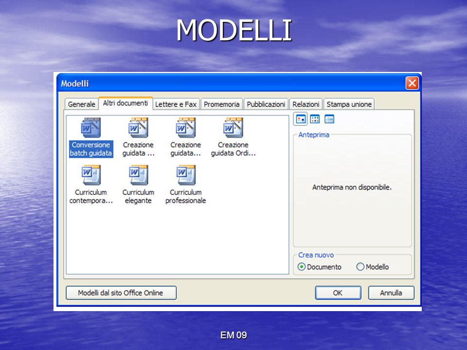 MODELLI EM 09