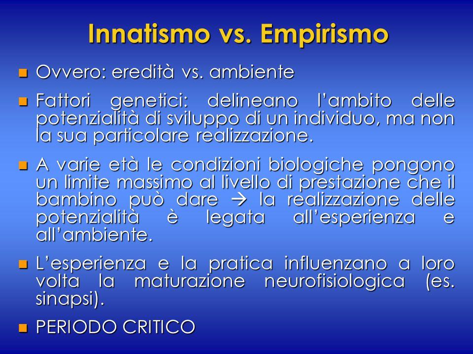 Innatismo vs. Empirismo