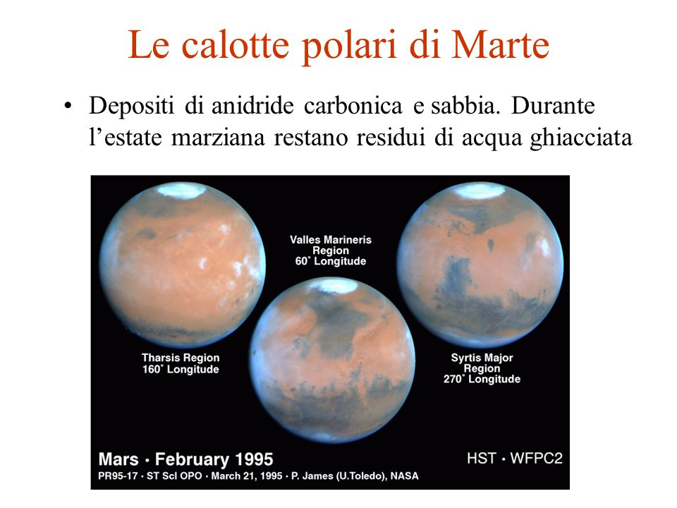 Le calotte polari di Marte