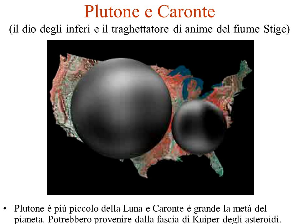 Plutone e Caronte (il dio degli inferi e il traghettatore di anime del fiume Stige)