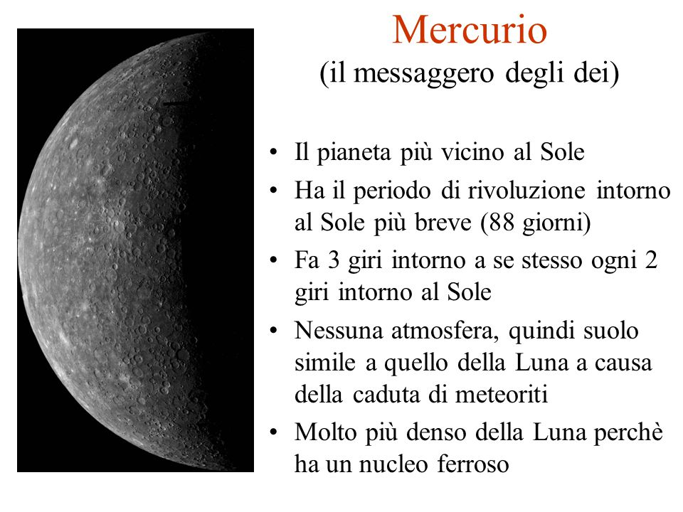 Mercurio (il messaggero degli dei)