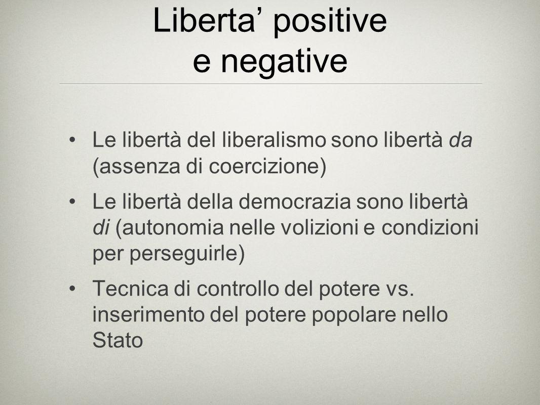 Liberta' positive e negative