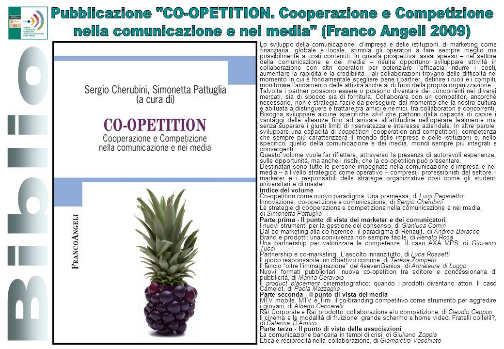 Pubblicazione CO-OPETITION. Cooperazione e Competizione