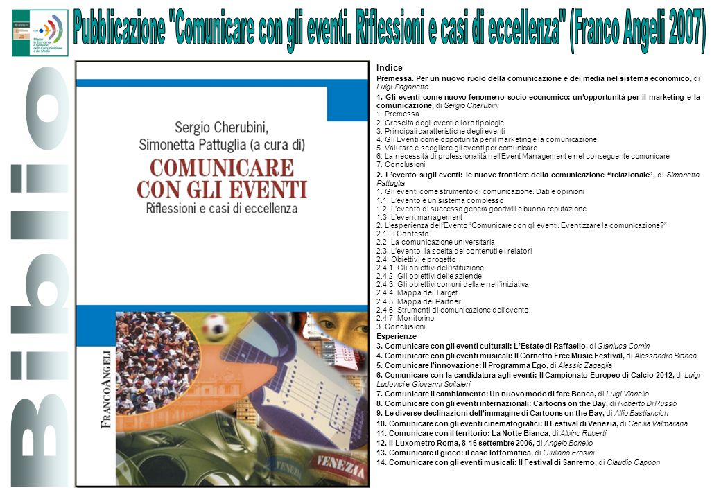 Pubblicazione Comunicare con gli eventi