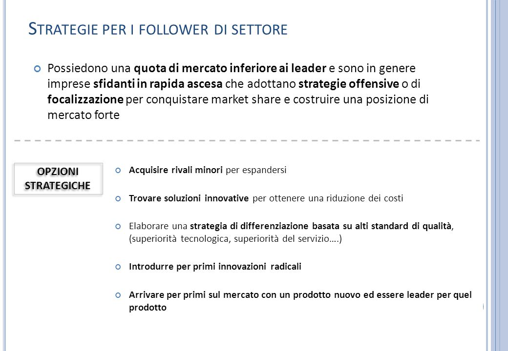 Strategie per i follower di settore