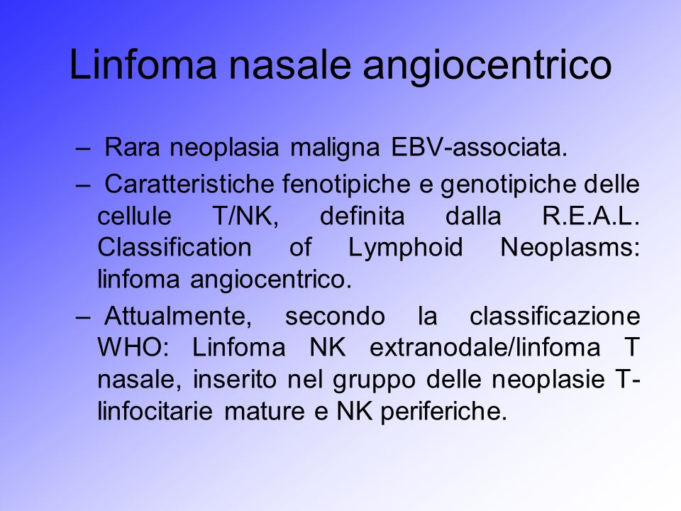 Linfoma nasale angiocentrico