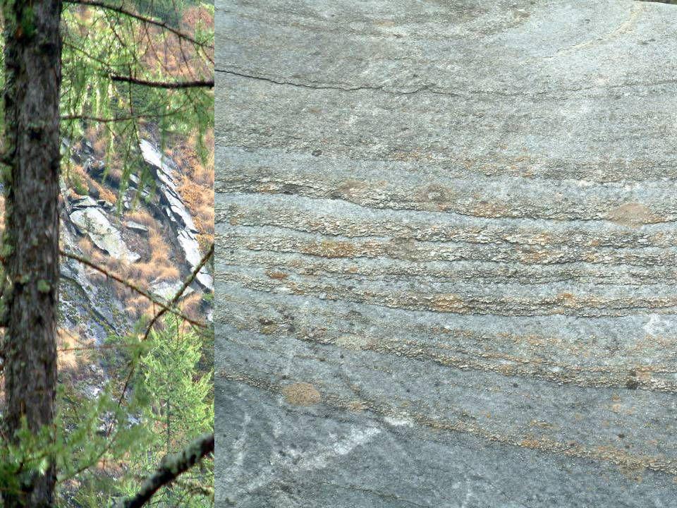 Valnontey pietra Roccia formata per stratificazione (vedi file geologia )