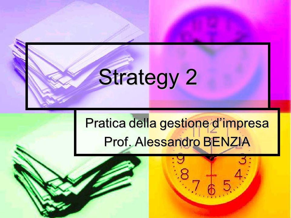 Pratica della gestione d'impresa Prof. Alessandro BENZIA
