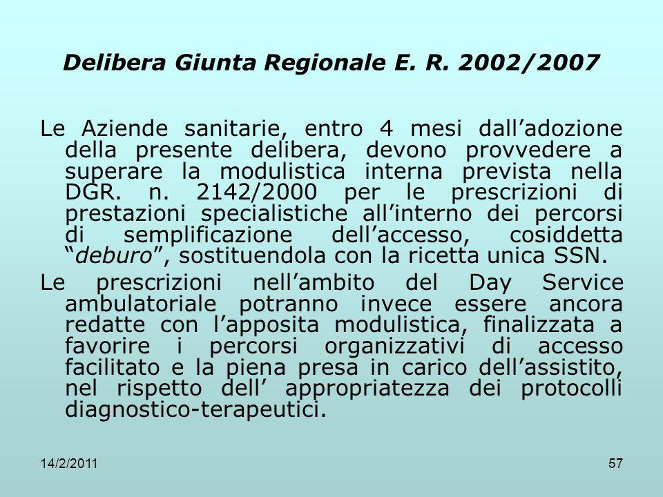 Delibera Giunta Regionale E. R. 2002/2007