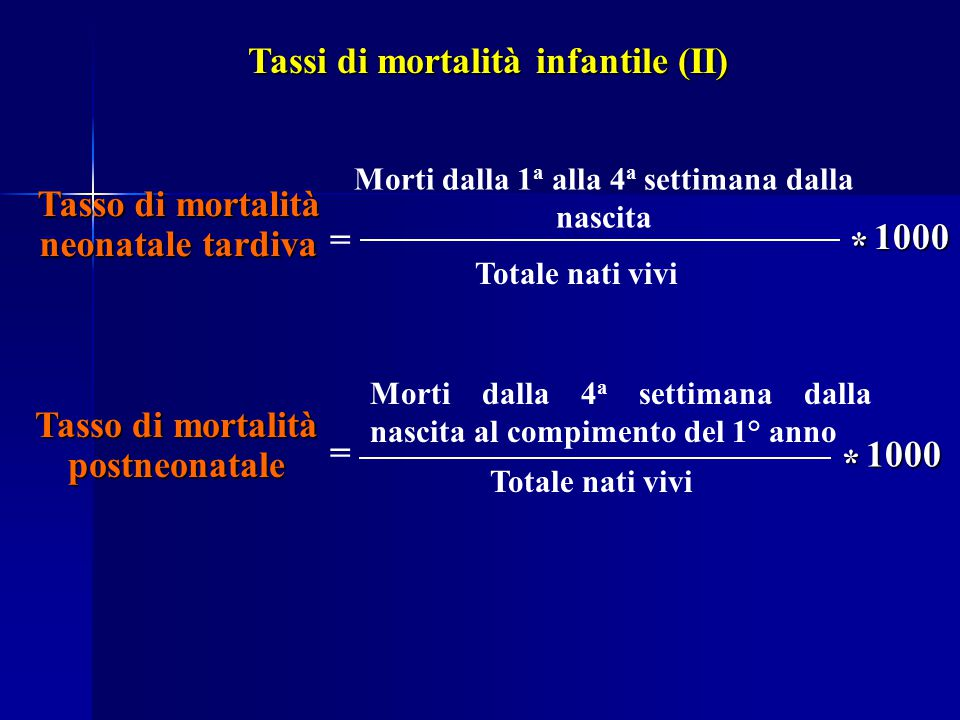 Tassi di mortalità infantile (II)