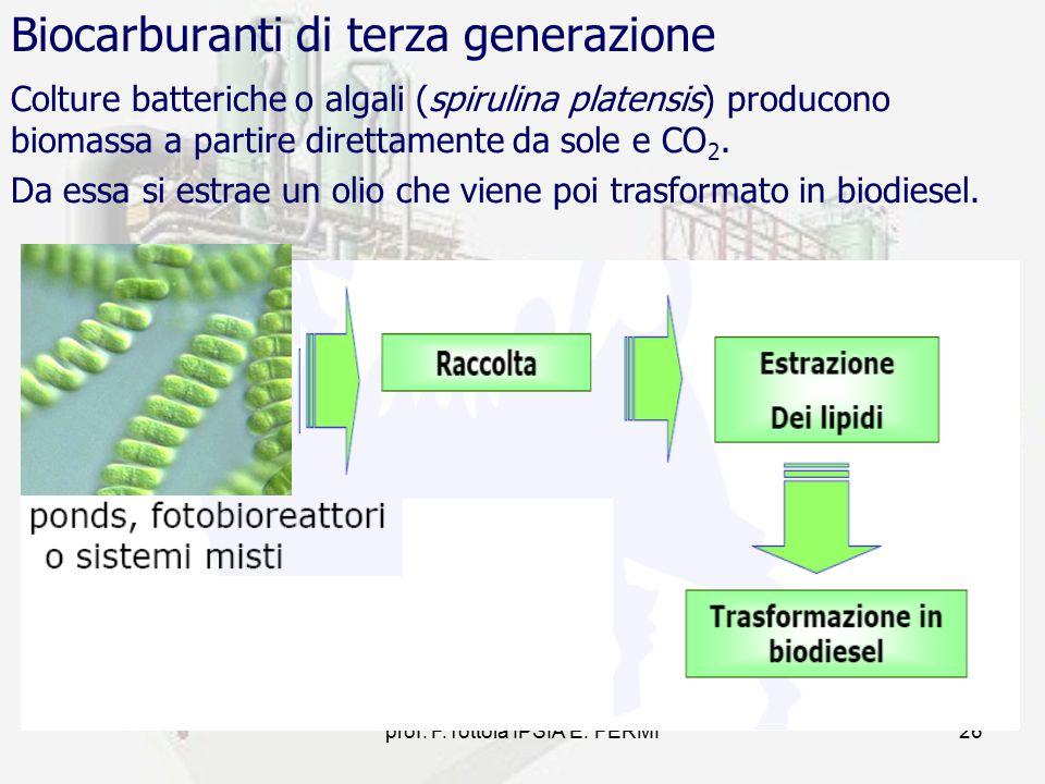 Biocarburanti di terza generazione