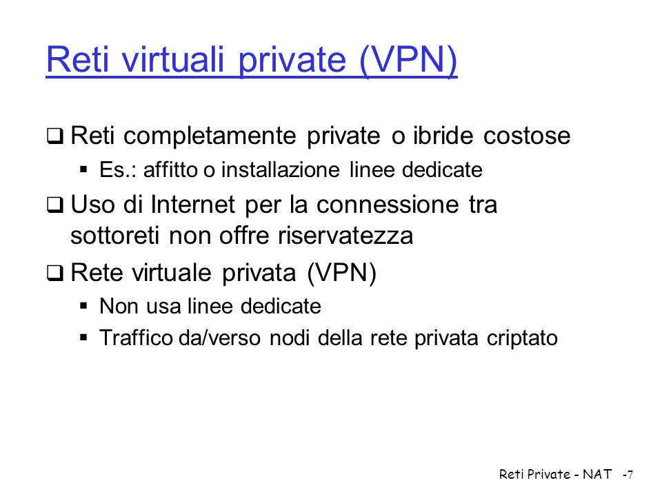 Reti virtuali private (VPN)