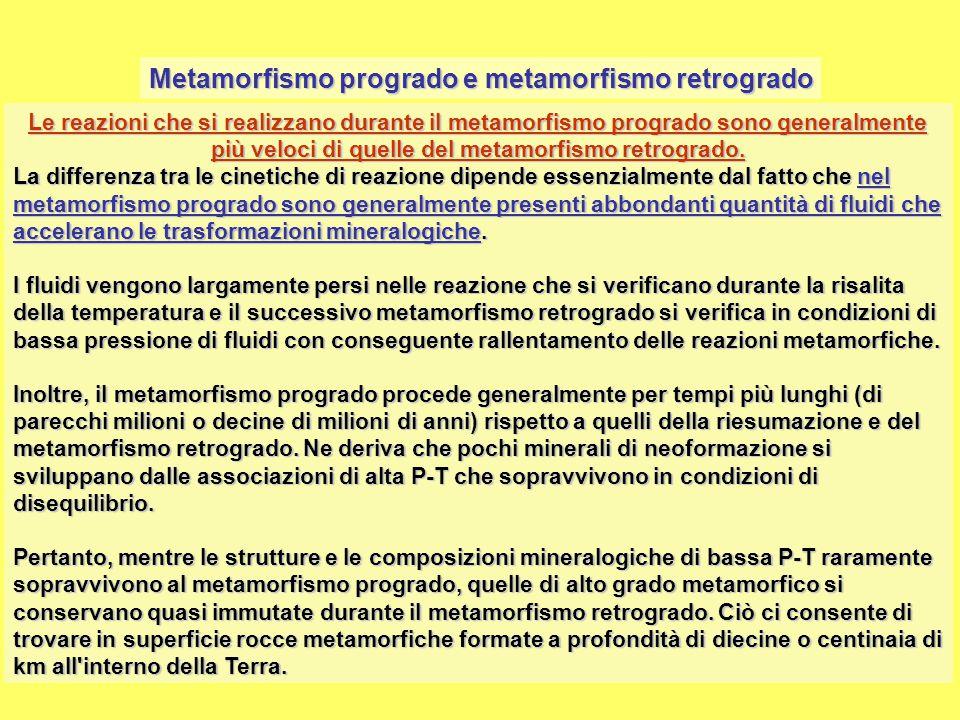 Metamorfismo progrado e metamorfismo retrogrado