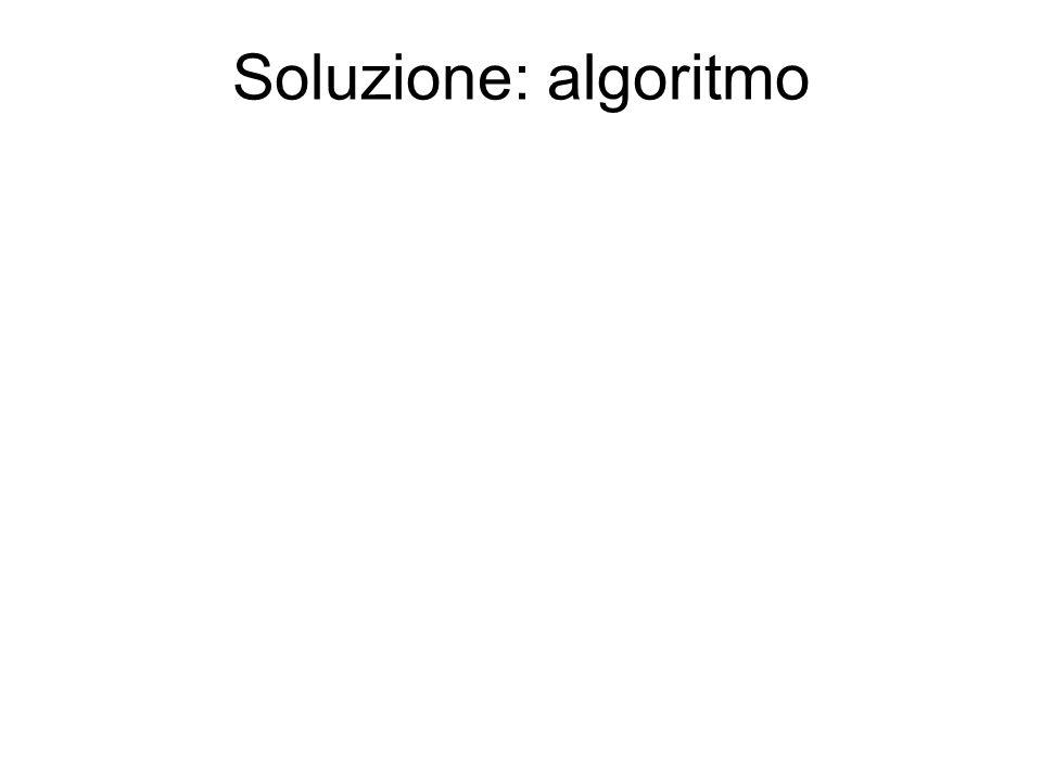 Soluzione: algoritmo