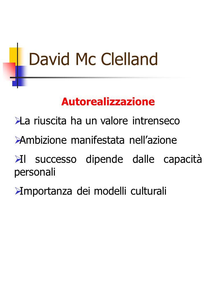 David Mc Clelland Autorealizzazione