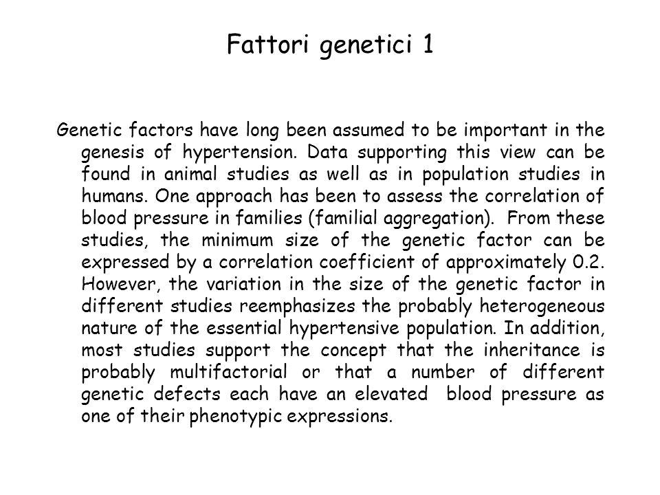 Fattori genetici 1