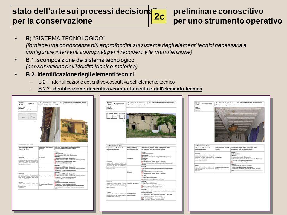 2c stato dell'arte sui processi decisionali per la conservazione