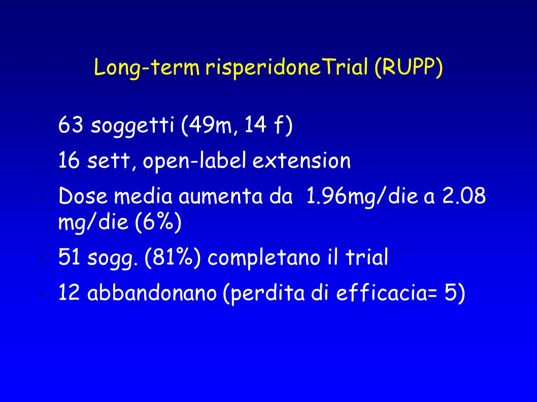 Long-term risperidoneTrial (RUPP)
