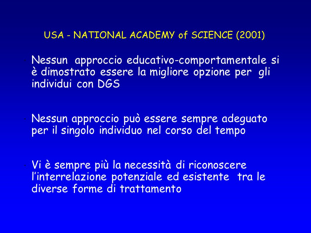 USA - NATIONAL ACADEMY of SCIENCE (2001)
