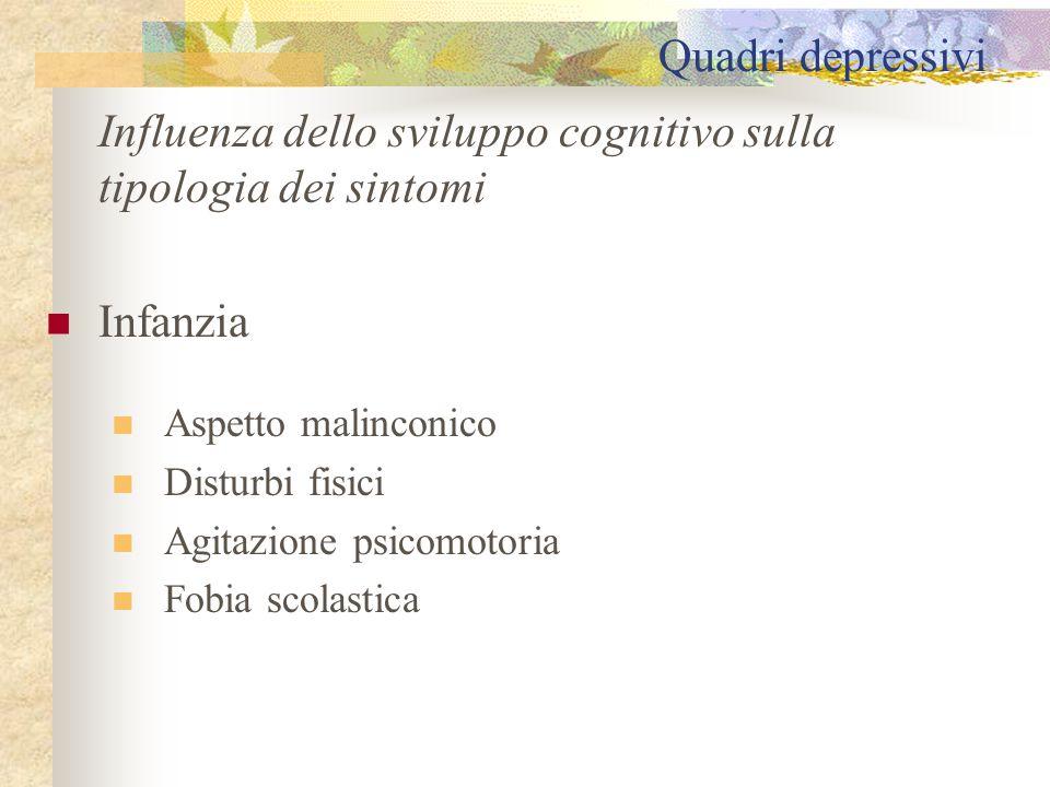 Influenza dello sviluppo cognitivo sulla tipologia dei sintomi