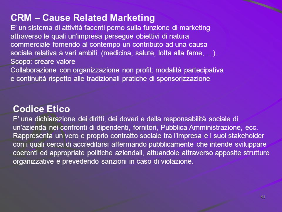 CRM – Cause Related Marketing