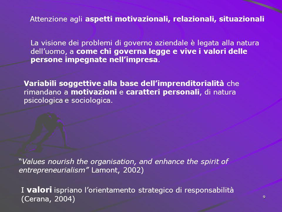 Attenzione agli aspetti motivazionali, relazionali, situazionali