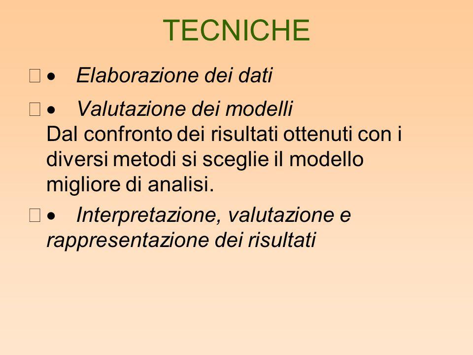 TECNICHE · Elaborazione dei dati