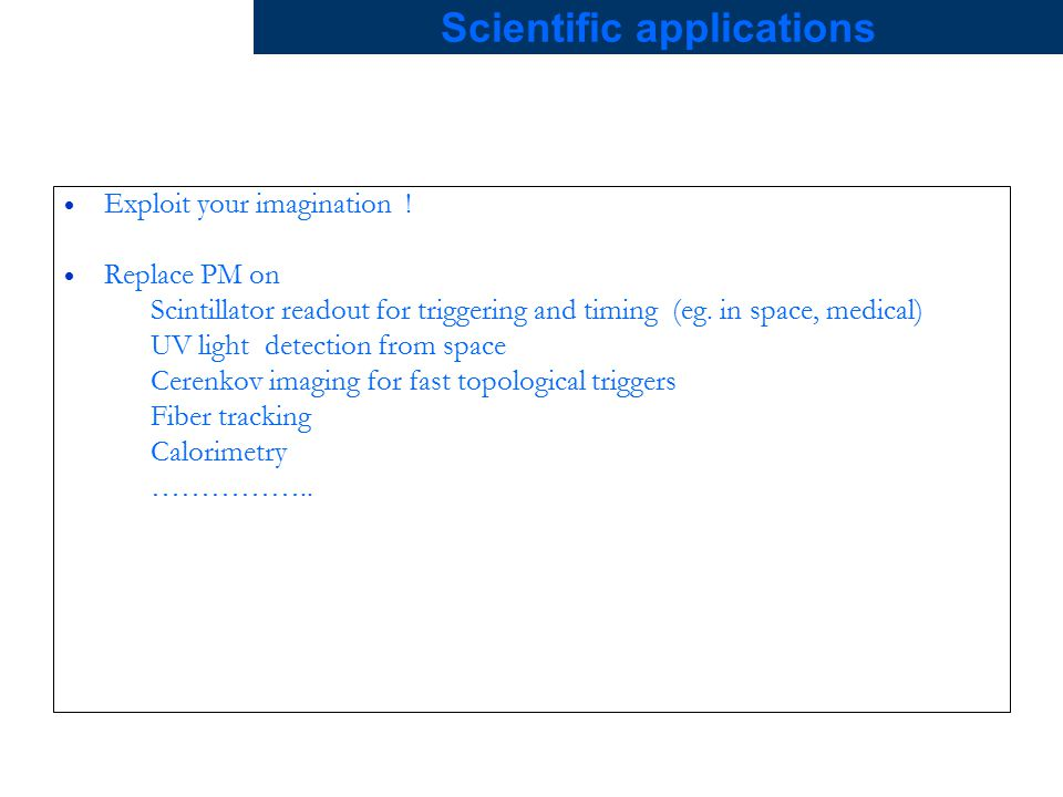 Scientific applications