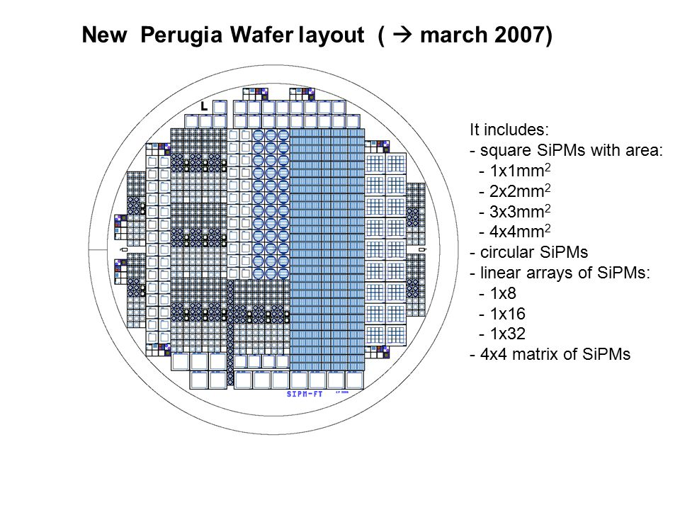 New Perugia Wafer layout (  march 2007)