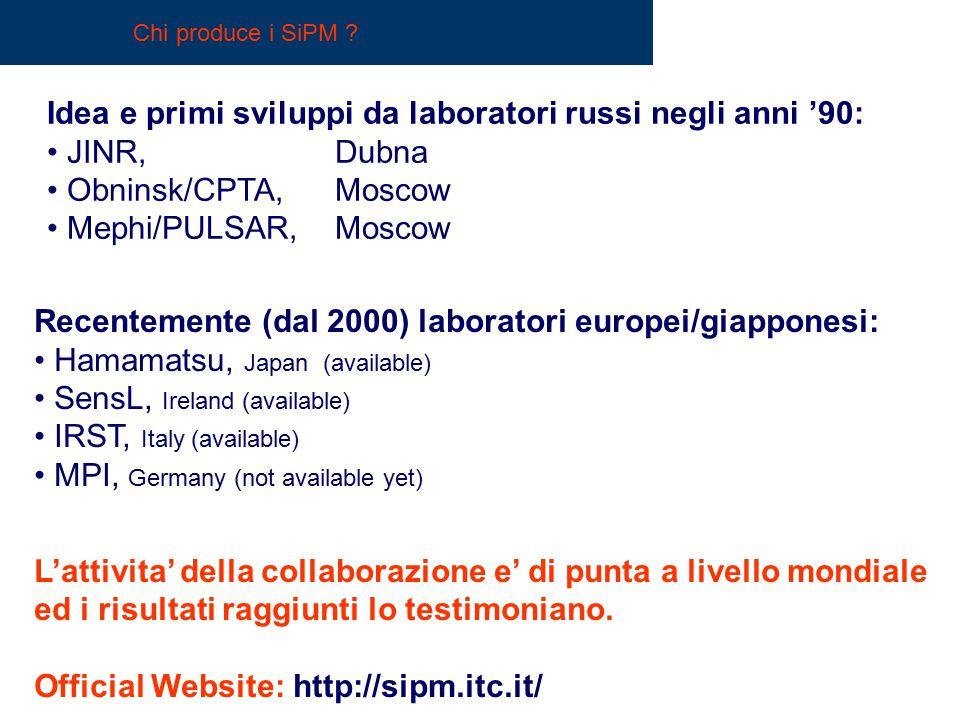Idea e primi sviluppi da laboratori russi negli anni '90: JINR, Dubna