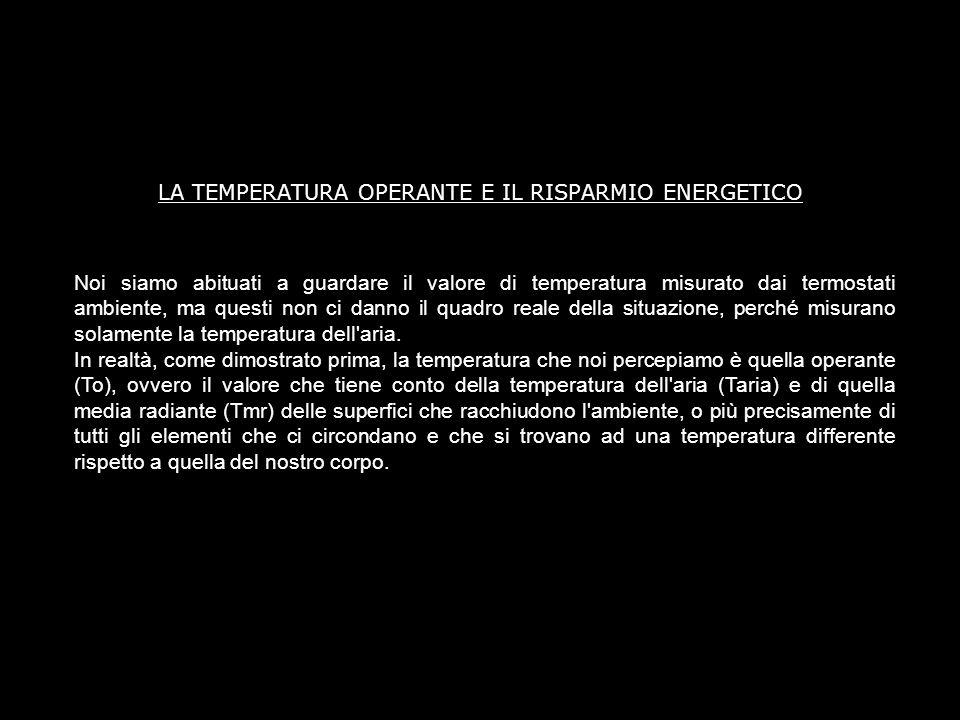 LA TEMPERATURA OPERANTE E IL RISPARMIO ENERGETICO