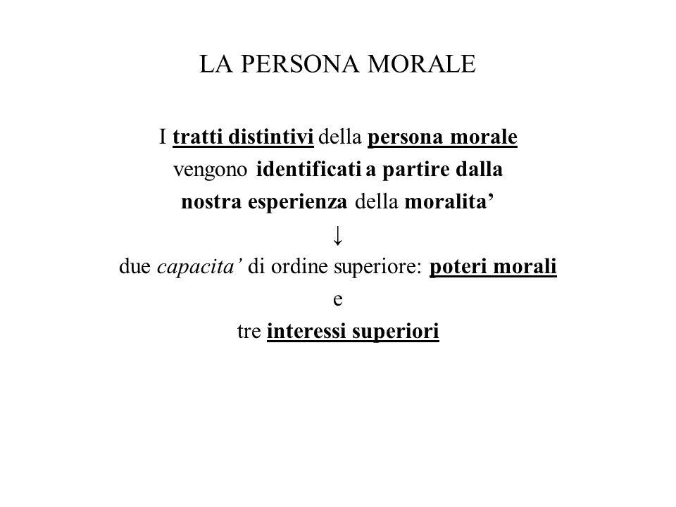 LA PERSONA MORALE I tratti distintivi della persona morale