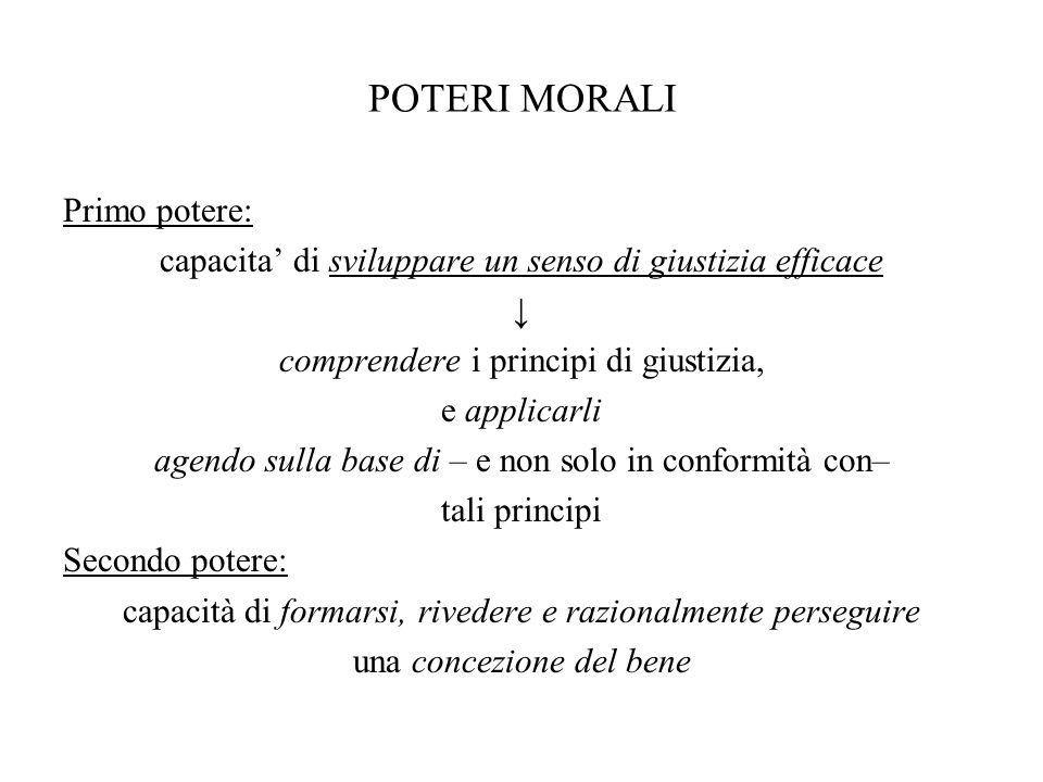 POTERI MORALI Primo potere: