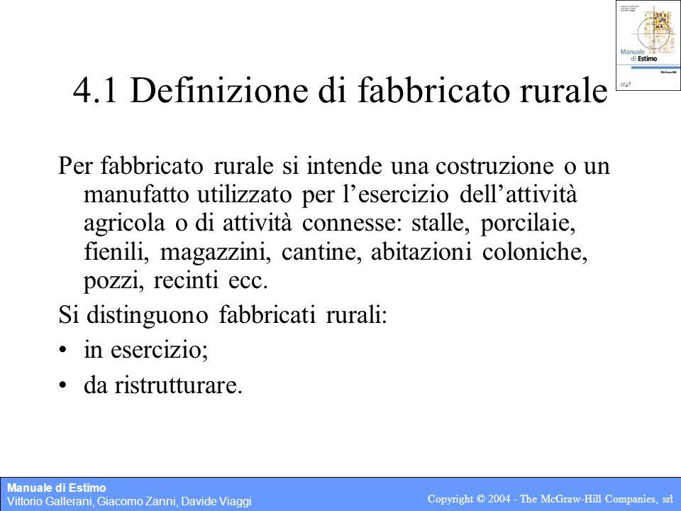 4.1 Definizione di fabbricato rurale
