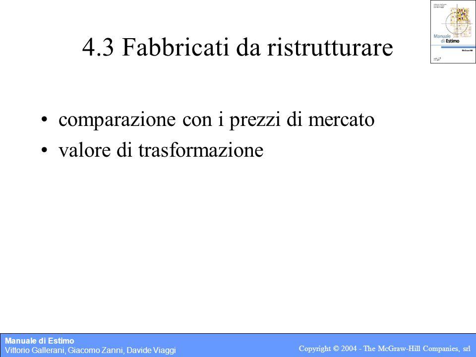 4.3 Fabbricati da ristrutturare