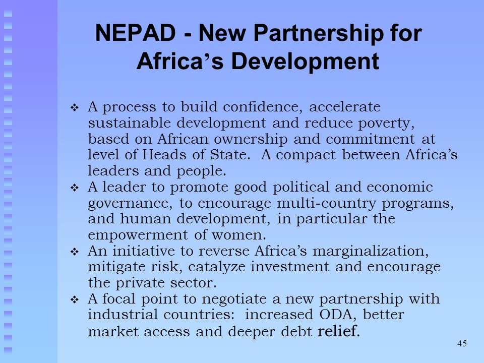 NEPAD - New Partnership for Africa's Development