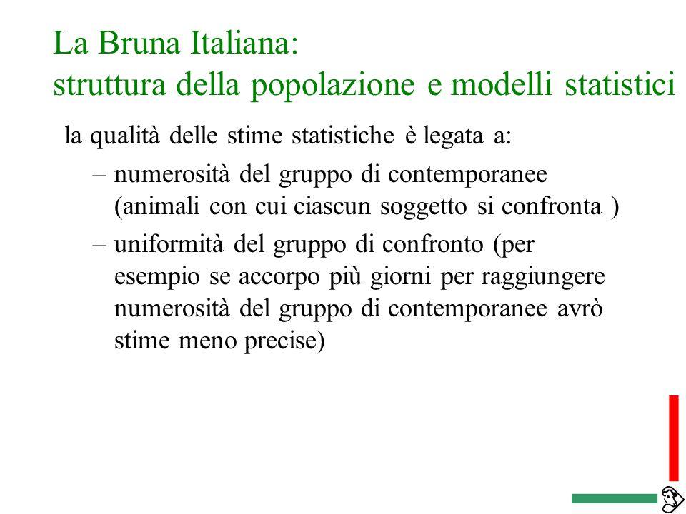 La Bruna Italiana: struttura della popolazione e modelli statistici