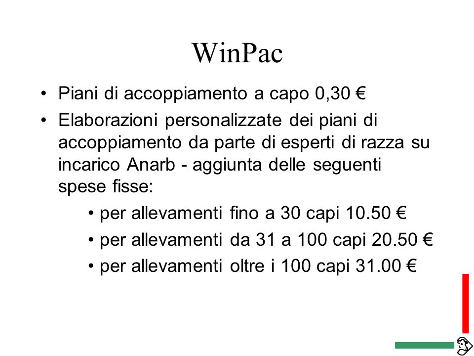 La bruna italiana quali specificit nella selezione ppt for Piani di camera aggiunta
