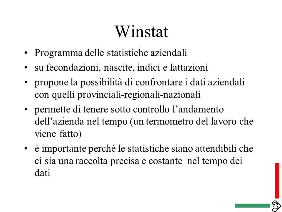 Winstat Programma delle statistiche aziendali