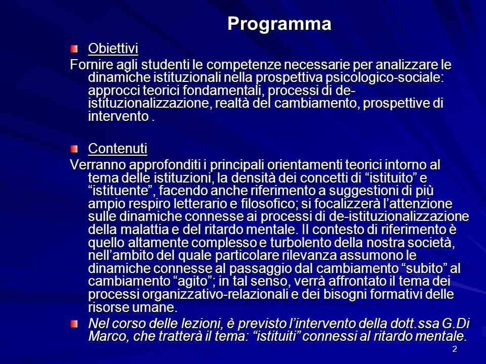 Programma Obiettivi.