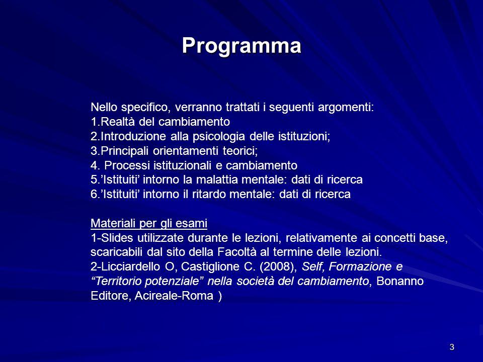 Programma Nello specifico, verranno trattati i seguenti argomenti: