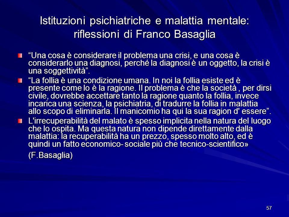 Istituzioni psichiatriche e malattia mentale: riflessioni di Franco Basaglia